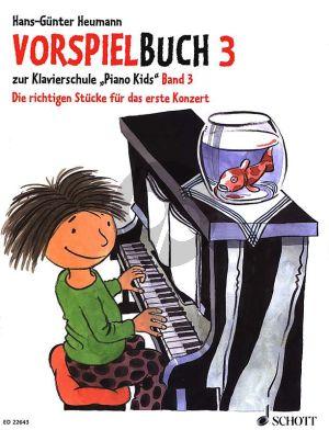 Heumann Vorspielbuch 3 zur Klavierschule Piano Kids
