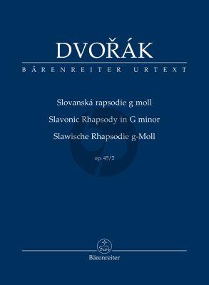 Dvorak Slavonic Rhapsody G-minor Opus 45 No. 2 Study Score (edited by Robert Simon)