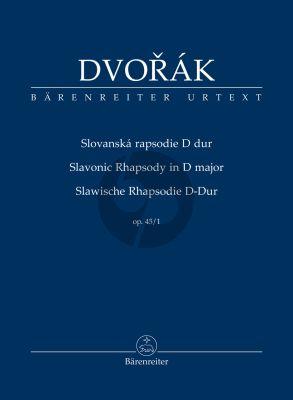 Dvorak Slavonic Rhapsody D-major Opus 45 No. 1 Study Score (edited by Robert Simon)