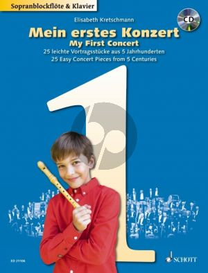 Mein erstes Konzert (My first Concert) Descant Recorder and Piano (Bk-Cd)