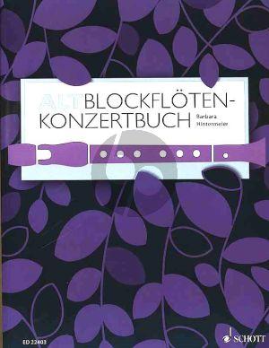Altblockflöten-Konzertbuch Altblockflöte und Klavier (60 Stücke aus 5 Jahrhunderten) (edited by Barbara Hintermeier)