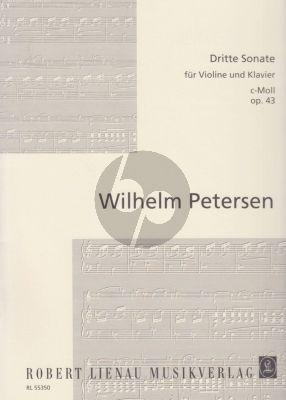 Petersen Sonate No. 3 c-moll Opus 43 Violine und Klavier
