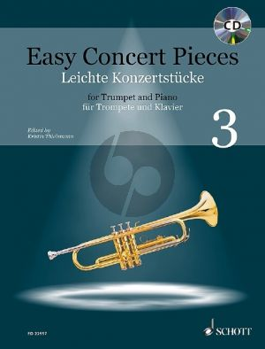 Easy Concert Pieces Vol. 3 (22 Concert Pieces from 5 Centuries) Trumpet and Piano (Bk-Cd) (Kristin Thielemann)