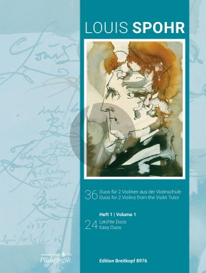 Spohr 36 Duos for 2 Violins Vol. 1 24 Easy Duets (from the Violin Tutor) (edited by Kolja Lessing)