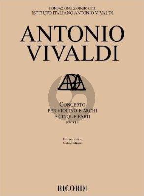 Vivaldi Concerto RV 813 Violin and Strings Score (edited by Federico Maria Sardelli)
