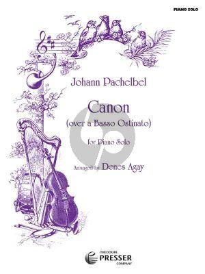 Pachelbel Canon (Over A Basso Ostinato) Piano Solo (Arrangement by Denes Agay)