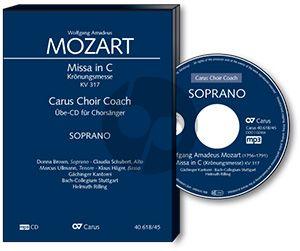 Mozart Krönungsmesse KV 317 SATB soli-SATB-Orchester Alt Chorstimme CD (Carus Choir Coach) (Hemut Rilling)