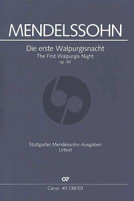 Die erste Walpurgisnacht MWVD 03 Soli-Chor-Orchester Klavierauszug