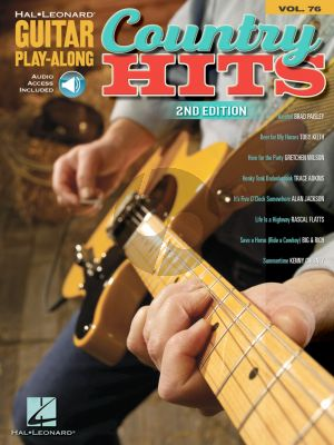 Country Hits - Guitar Play-Along Series Vol. 76 (Book with Audio online) (second edition)