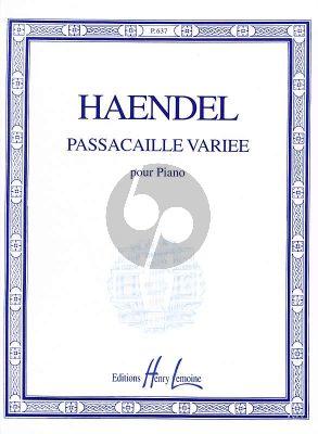 Handel Passacaille Variee Piano Solo