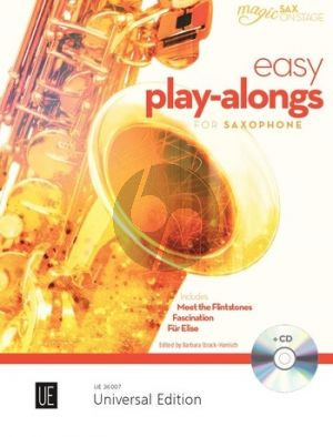 Easy Play-Alongs for Alto Saxophone and Piano (Bk-Cd) (edited by Barbara Strack-Hanisch)