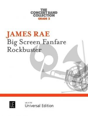 Rae Big Screen Fanfare • Rockbuster for concert band (Score/Parts)