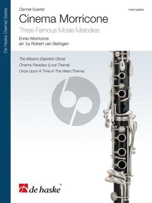 Cinema Morricone 4 Clarinets (Score/Parts) (arr. Robert van Beringen)