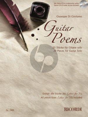 Girolamo Guitar Poems (Book with Audio online)
