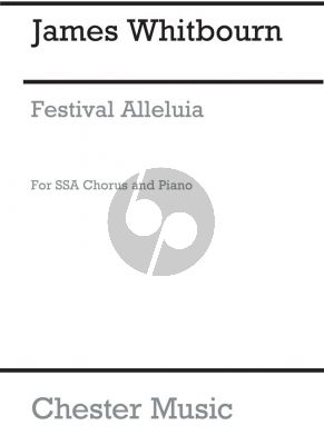 Whitbourn Festival Alleluia SSA and Piano