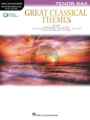 Great Classical Themes for Tenor Saxophone (Book with Audio online)
