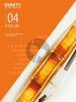 Trinity Violin Exam Pieces 2020-2023 Grade 4 (Violin-Piano)