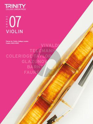 Trinity Violin Exam Pieces 2020-2023 Grade 7 (Violin-Piano)