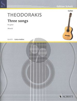 Theodorakis 3 Songs for Guitar (arr. by Yorgos Nousis)