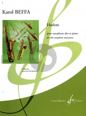 Beffa Harlem pour Saxophone alto et Piano