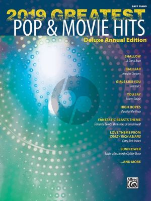 2019 Greatest Pop & Movie Hits for Piano (transcr. by Dan Coates)