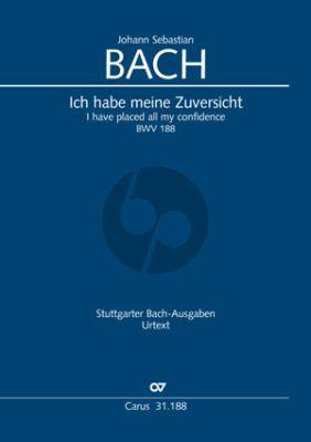 Bach Kantate BWV 188 Ich habe meine Zuversicht (KA) (deutsch/englisch)
