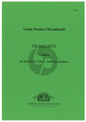 Clerambault Pigmalion Bass Voice (F#-e'), Flute, Violin & Continuo (2 Scores and Parts) (Cedric Lee)