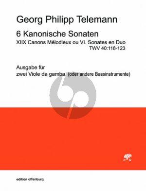 Telemann 6 Kanonische Sonaten 2 Viola da Gamba