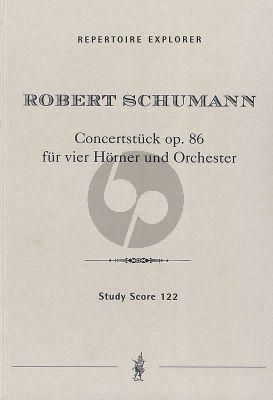 Schumann Concertstuck Op.86 4 Horner und Orchester Studien Partitur