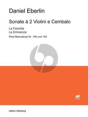 Eberlin Sonate à 2 Violini e Cembalo