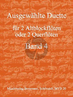 Ausgewahlte Duette Band 4 : fur 2 AltblockflOten / Floten)