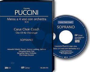 Puccini Messa a 4 Voici (Messa di Gloria) Soli-Chor-Orchester Sopran Chorstimme CD (Carus Choir Coach)