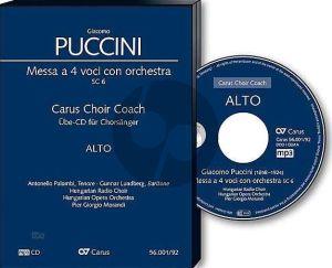 Puccini Messa a 4 Voici (Messa di Gloria) Soli-Chor-Orchester Alt Chorstimme CD (Carus Choir Coach)