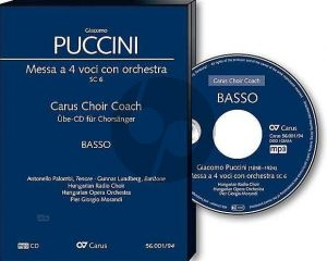 Puccini Messa a 4 Voici (Messa di Gloria) Soli-Chor-Orchester Bass Chorstimme CD (Carus Choir Coach)