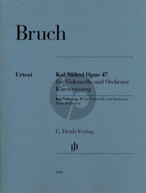 Bruch Kol Nidrei Op. 47 für Violoncello und Orchester (Klavierauszug) (Annette Oppermann)
