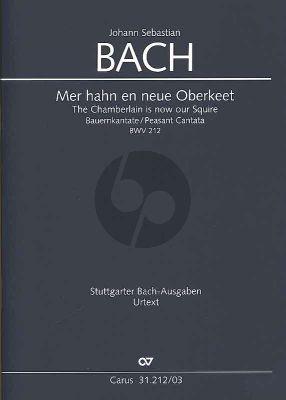 Bach Kantate BWV 212 - Mer hahn und neue Oberkeet (Bauern-Kantate) (KA) (deutsch/englisch)