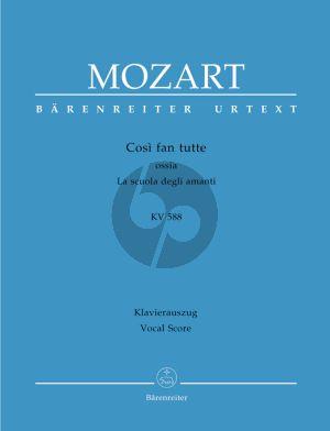 Mozart Cosi fan Tutte KV 588 Vocal Score Hardcover (ital./germ.) (Faye Ferguson / Wolfgang Rehm)