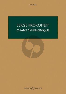 Prokofieff Chant Symphonique Op. 57 Orchestra (Study Score)