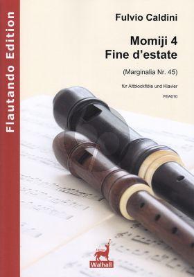 Caldini Momiji 4 – Fine d'estate fur Altblockflote und Klavier (Score and Part) (Marginalia Nr. 45)