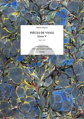 Pieces de Viole – Livre V (Facsimile Paris 1725) (Ruedy Ebner)