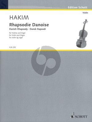 Hakim Rhapsodie Danoise Violin and Organ