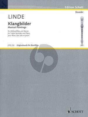 Linde Klangbilder Altblockflote und Klavier