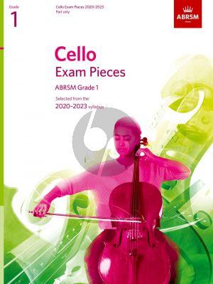 Cello Exam Pieces 2020-2023 Grade 1 Solo Part