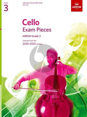 Cello Exam Pieces 2020-2023 Grade 3 Solo Part