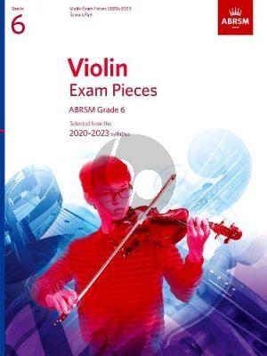 Album Violin Exam Pieces 2020-2023, ABRSM Grade 6 Violin and Piano