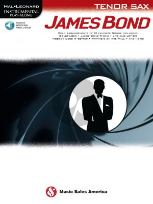 James Bond for Tenor Saxophone Instrumental Play-Along (Book with Audio online)