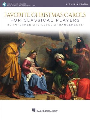 Favorite Christmas Carols for Classical Players for Violin and Piano (Book with Audio online)