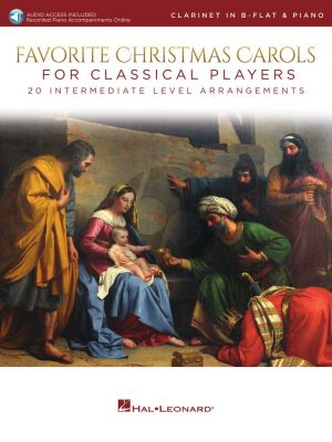 Favorite Christmas Carols for Classical Players for Clarinet and Piano (Book with Audio online)