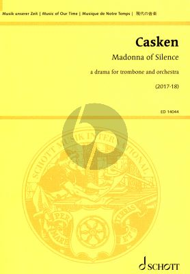 Casken Madonna of Silence for trombone and orchestra (Study Score)