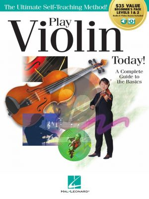 Hahn Play Violin Today! Beginner's Pack (Method Books for Levels 1 & 2 Plus Online Audio & Video Access)